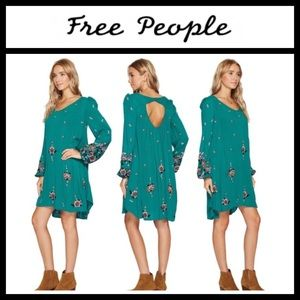 """Free People Dress """"Oxford Embroidered Mini"""" NWT"""